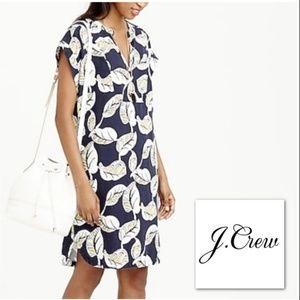 J. CREW TROPICAL FROND SHIFT DRESS